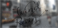 Illustration of font Windy Rain Demo