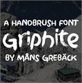 Illustration of font Griphite PERSONAL USE