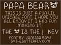 Illustration of font Papa Bear