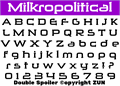 Illustration of font Milkropolitical