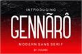Illustration of font GENNARO