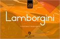 Illustration of font Lamborgini