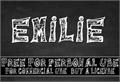 Illustration of font Emilie