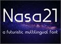Illustration of font Nasa21