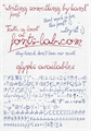 Illustration of font writing something by hand_FREE-