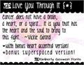 Illustration of font KG Love You Through It