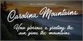 Illustration of font Carolina Mountains Personal Use