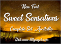 Illustration of font Sweet Sensations Personal Use