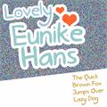 Illustration of font Lovely Eunike Hans