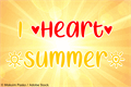 Illustration of font I Heart Summer