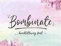 Illustration of font Bombinate