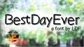 Illustration of font BestDayEver