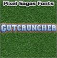 Illustration of font Gutcruncher
