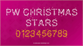 Illustration of font PWChristmasStars
