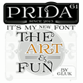 Illustration of font Prida61
