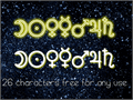 Illustration of font Astronomic Signs St