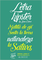 Illustration of font Letra Hipster - Personal Use