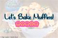 Illustration of font Lets Bake Muffins