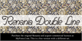 Illustration of font Renania Double Line