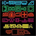 Illustration of font Travelicons