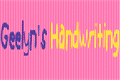 Illustration of font Geelyn_s_Handwriting