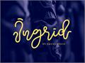 Illustration of font Ingrid