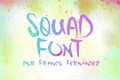 Illustration of font Squad Font