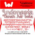 Illustration of font Indonesia Tanah Air Beta