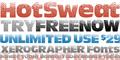 Illustration of font HotSweat