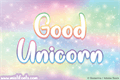Illustration of font Good Unicorn
