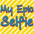 Illustration of font My Epic Selfie Demo