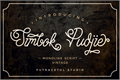 Illustration of font Simbok Pudjie Free