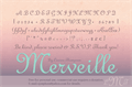 Illustration of font Merveille
