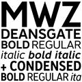 Illustration of font Deansgate Condensed