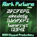 Illustration of font Dark Future