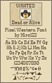 Illustration of font Pixel-Western