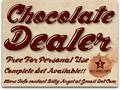Illustration of font Chocolate Dealer