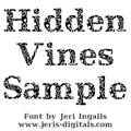 Illustration of font JI Hidden Vines