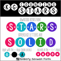 Illustration of font KG Counting Stars