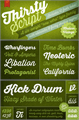 Illustration of font Thirsty Script Extrabold Demo