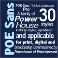 Illustration of font POE Sans Pro