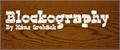 Illustration of font Blockography