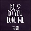 Illustration of font KG Do You Love Me