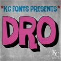 Illustration of font Dro DEMO