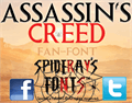 Illustration of font ASSASSINS CREED