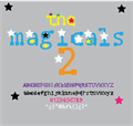 Illustration of font the magicals 2