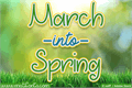 Illustration of font March into Spring