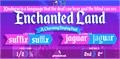Illustration of font Enchanted Land