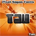 Illustration of font Tau