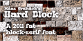Illustration of font Hard Block
